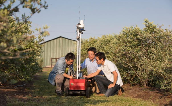 Big data, robotics and agriculture intersect in the UGA Phenomics and Plant Robotics Center